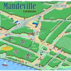 Mandeville Caricature Map